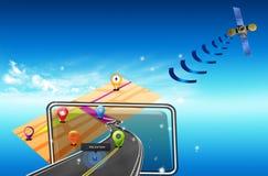 Navegador de GPS del camino Imagenes de archivo