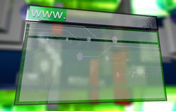 Navegador de Internet no Cyberspace Fotos de Stock