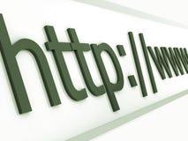 Navegador do HTTP Imagens de Stock Royalty Free