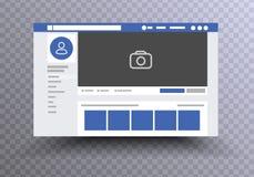 Navegador Facebook de la página web libre illustration