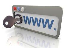 navegador protegido 3d Foto de Stock