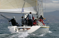 Navegando, #6 yachting Imagens de Stock Royalty Free