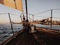 Navegando a baía Fotografia de Stock
