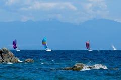 Navegando a Costa do Pacífico imagem de stock