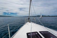 Navegue los días de fiesta en el mar adriático en Croacia Fotos de archivo libres de regalías