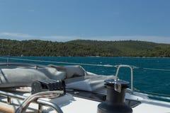Navegue los días de fiesta en el mar adriático en Croacia Fotos de archivo