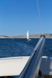 Navegue los días de fiesta en el mar adriático en Croacia Foto de archivo