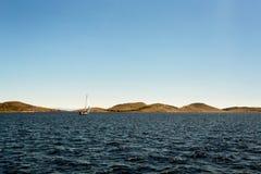 Navegue los días de fiesta en el mar adriático en Croacia Fotografía de archivo libre de regalías