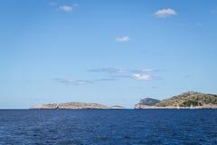 Navegue los días de fiesta en el mar adriático en Croacia Imagen de archivo libre de regalías