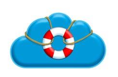 Navegue o cofre forte na nuvem Imagens de Stock