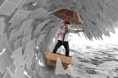Navegue a tempestade da burocracia ilustração stock