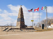 Navel of North America. Geographical center of North America. Ci. Navel of North America. Geographikcal center of North America. City Rugby, ND Royalty Free Stock Images