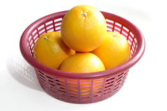 Navel Orages in a Basket Royalty Free Stock Image