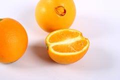 Navel orange. Isolated on white background Royalty Free Stock Photos