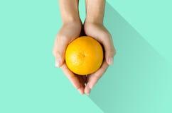 Navel orange fruit Stock Image