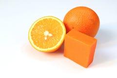 Navel orange soap Stock Image