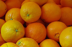 Navel oranges close up for market Royalty Free Stock Image