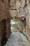 Navelli, μια μεσαιωνική πόλη στο Abruzzo, Ιταλία Στοκ Εικόνα