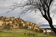 Navelli village. Panoramic View of the village of Navelli in the province of l'Aquila before  erthquake Royalty Free Stock Photography