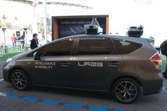 Naver Labs car at CES 2019 stock image