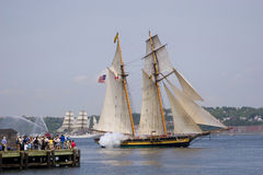 Naves altas de Nueva Escocia Imágenes de archivo libres de regalías