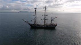 Naves altas Dublin Riverfest 2017 irlanda almacen de metraje de vídeo