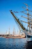 Naves altas STS MIR y Krusenstern Foto de archivo libre de regalías