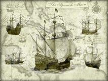 Naves antiguas   stock de ilustración