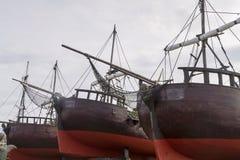 Naves antiguas Imágenes de archivo libres de regalías