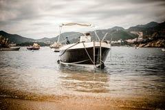 Naves in Bay Milocer. Regionis Мontenegro Royalty Free Stock Photos