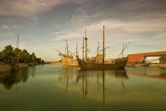 Naves de Christopher Columbus Fotografía de archivo libre de regalías