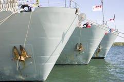 Naves de guerra Fotografía de archivo libre de regalías
