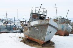 Naves de la descarga Fotos de archivo