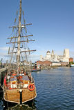 Naves de Liverpool en muelle Fotografía de archivo libre de regalías