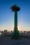Naves del océano de Pier Beacon Light Tower Harbor Imágenes de archivo libres de regalías