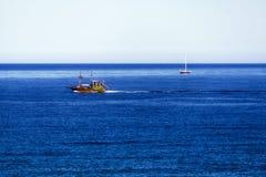 Naves en el mar abierto Foto de archivo