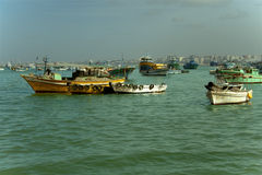 Naves en el mar Mediterráneo Fotos de archivo libres de regalías