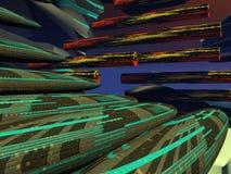 Naves espaciais do charuto Imagens de Stock Royalty Free