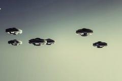 Naves espaciales del UFO Fotos de archivo