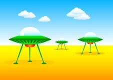 Naves espaciales verdes Imagen de archivo libre de regalías