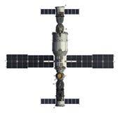 Naves espaciales y estación espacial ilustración del vector