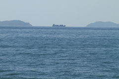 Naves grandes en el golfo Fotografía de archivo
