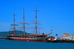 Naves históricas en San Francisco Foto de archivo libre de regalías