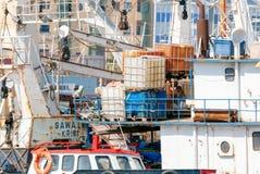 Naves oxidadas Fotos de archivo