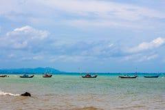 Naves y el mar Foto de archivo