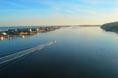 Navesink en de Atlantische Oceaan Royalty-vrije Stock Foto