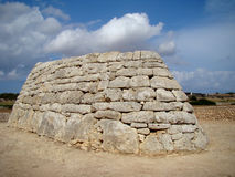 Naveta des Tudons. – Old tomb of 1000 BC Royalty Free Stock Images
