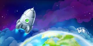 Navetta spaziale sopra la terra royalty illustrazione gratis