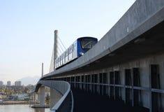 Navette de Vancouver, croisement de fleuve de Fraser Photos stock