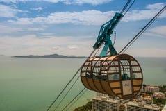 Navette Pattaya de ciel d'aventure image stock